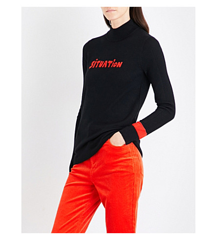 BELLA FREUD Situation turtleneck wool jumper (Black