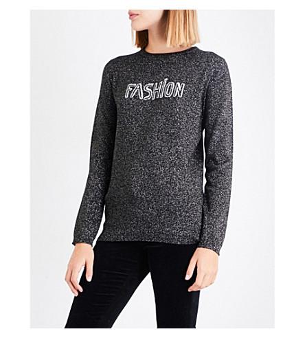 BELLA FREUD Fashion Sparkle wool-blend jumper (Black/silver