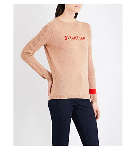 BELLA FREUD Situation wool and cashmere-blend jumper (Biscuit