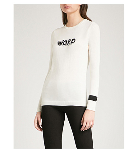 BELLA FREUD Word wool jumper (Ivory