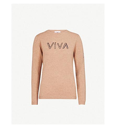 BELLA FREUD Viva wool and cashmere-blend jumper (Biscuit