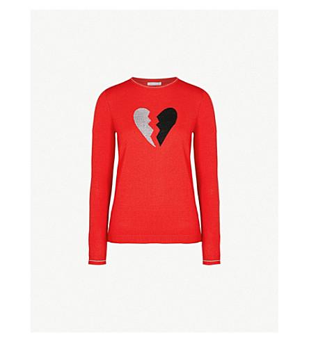 BELLA FREUD Heart Breaker wool-blend jumper (Red