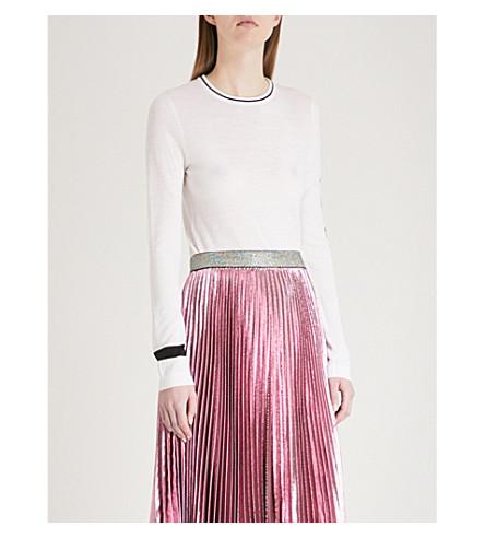 BELLA FREUD Rainbow Power wool-blend jumper (White