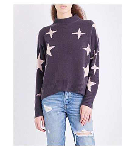 360 CASHMERE Allyssa high neck cashmere jumper (Cement/rose+quartz+star