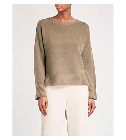 360 CASHMERE Ziggy boat-neck cashmere jumper (Olive