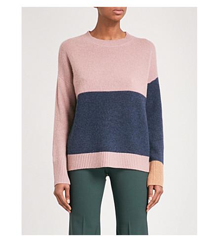360 CASHMERE Elise cashmere jumper (Tea+rose/navy/acorn