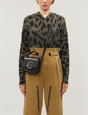 Carson leopard-print cashmere hoody.