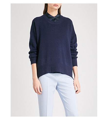 ALLUDE Slouchy-fit cashmere jumper (Navy