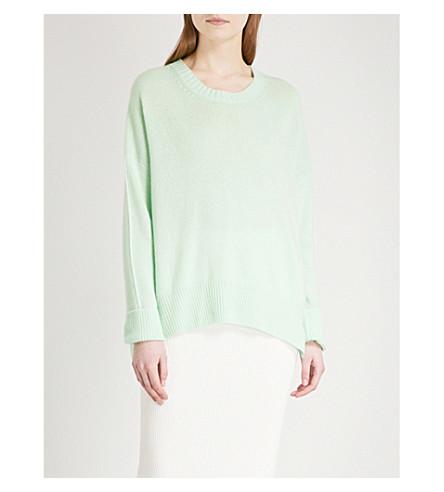 ALLUDE Crewneck cashmere jumper (Green