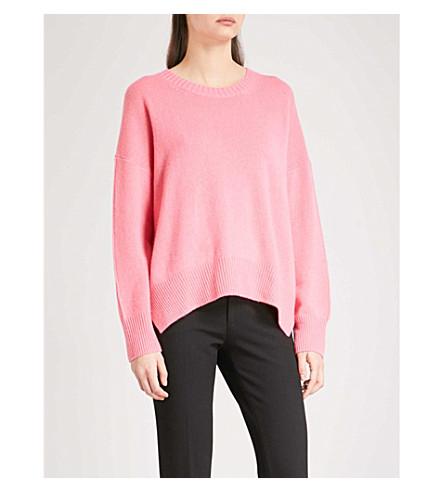 ALLUDE Crewneck cashmere jumper (Pink