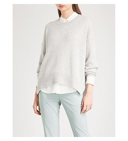 ALLUDE Crewneck cashmere jumper (Grey