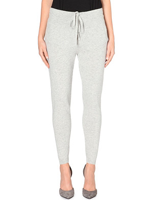 ALLUDE Tapered cashmere leggings