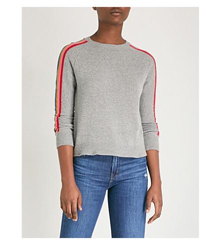 ALLUDE Side-stripe wool-blend jumper (83