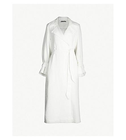 BLANCHE Anura linen trench coat (Ecru