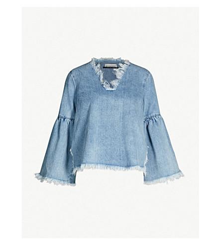 BLANCHE Akido denim blouse (Summer blue
