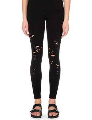 DRIFTER Gala distressed jersey leggings
