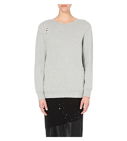DRIFTER Impression cotton-jersey sweatshirt (Grey