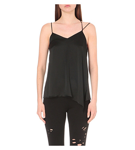 DRIFTER Ximena stretch-silk camisole (Black