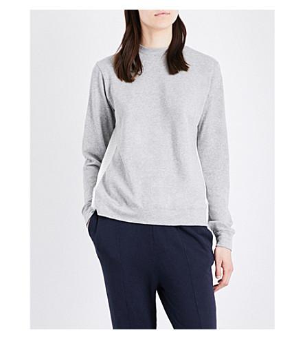 CLU Draped-back cotton-jersey sweatshirt (Grey