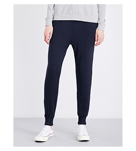 CLU Tapered relaxed-fit jersey jogging bottoms (Navy