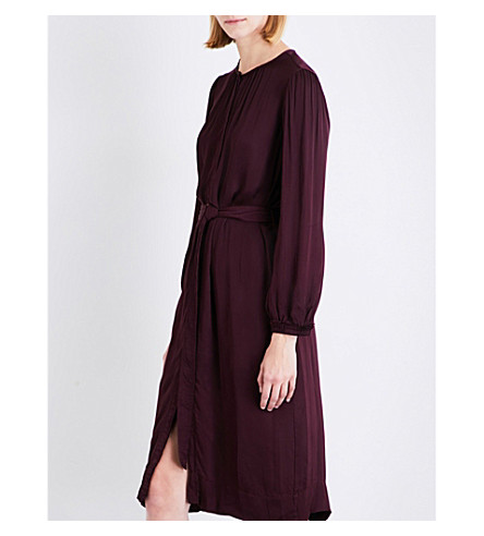 RAQUEL ALLEGRA Oversized satin dress (Plum