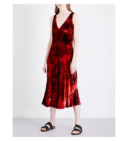 RAQUEL ALLEGRA Tie-dye velour dress (Ruby+tie+dye