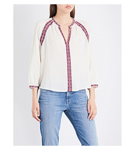 CLOSED Embroidered cotton blouse (Blanched