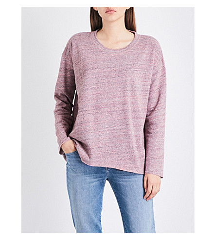 CLOSED Marl-effect cotton-jersey sweatshirt (Rose+dust