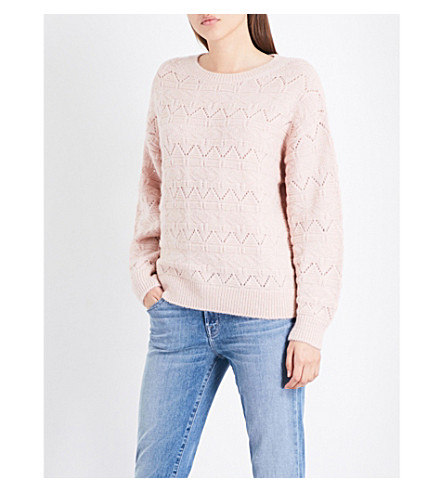 CLOSED Geometric-knitted jumper (Tea+rose