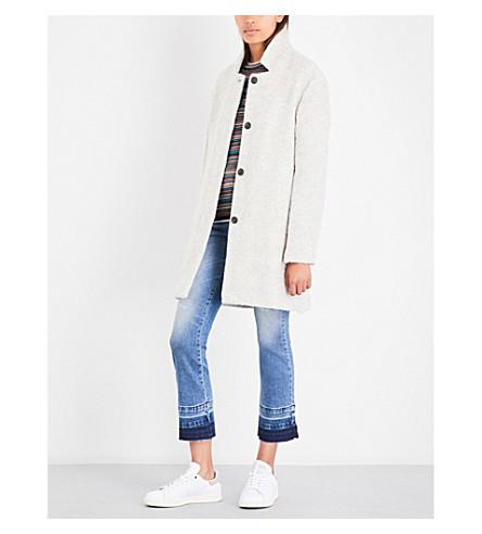 CLOSED Bubble bouclé coat (Light+grey