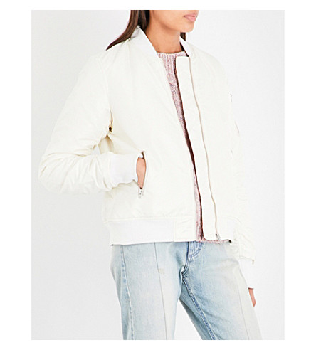 CLOSED Satin bomber jacket (Blanched
