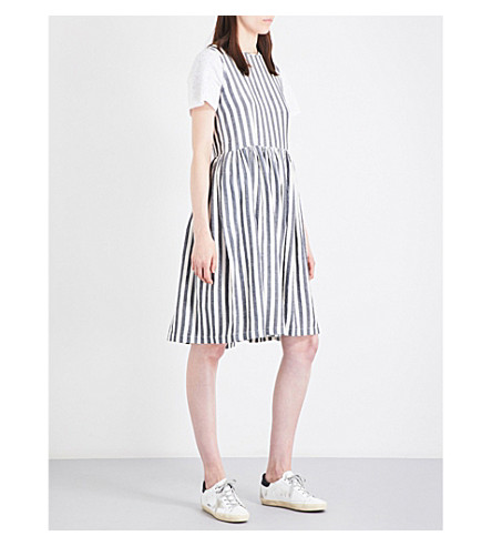 THE GREAT Prairie cotton dress (Black/white