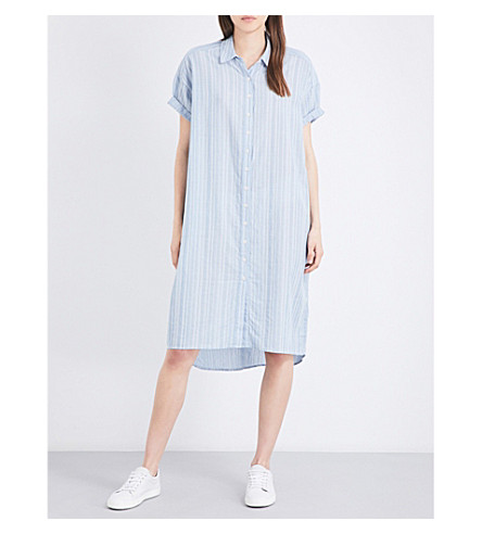 THE GREAT Camper cotton shirt dress (Chambray+dobby