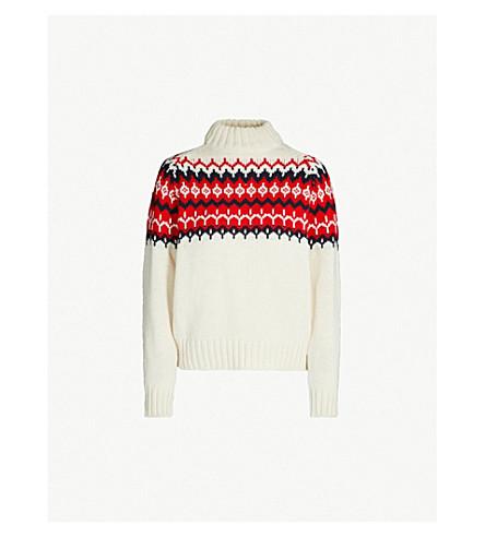 &DAUGHTER Fair Isle-patterned wool jumper (Ecru/red