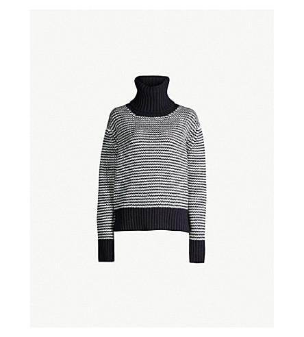 &DAUGHTER Roshin wool jumper (Navy/ecru