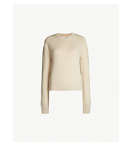 &DAUGHTER Geelong Plain round-neck waffle-knit wool jumper (Ivory 117