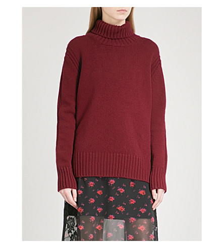 &DAUGHTER Fintra turtleneck wool jumper (Burgandy