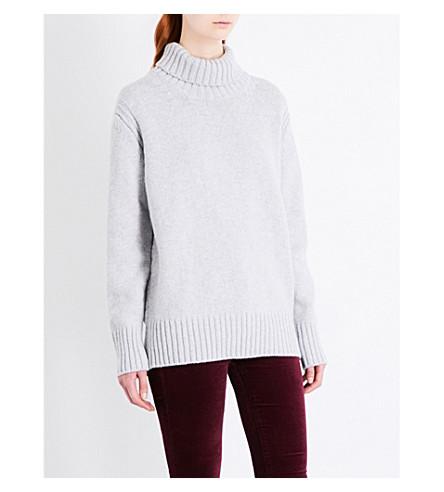 &DAUGHTER Fintra turtleneck wool jumper (Light+grey