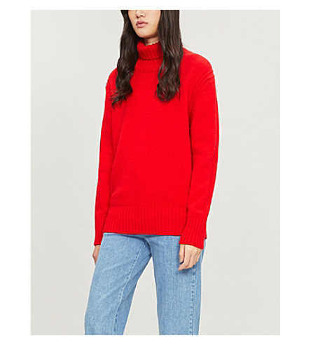 &DAUGHTER Fintra turtleneck wool jumper (Tartan+scarlett+34