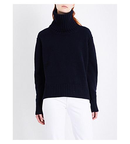 &DAUGHTER Roshin turtleneck wool jumper (Navy