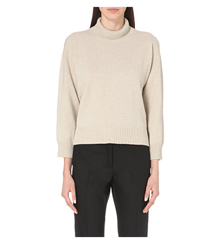 &DAUGHTER Wool and cashmere-blend jumper (Oyster