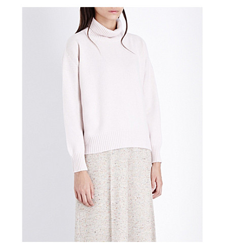 &DAUGHTER Wool and cashmere-blend sweater (Pink