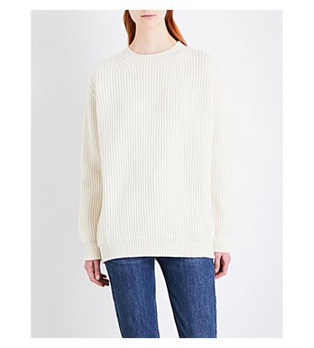 &DAUGHTER Inver wool and cashmere-blend jumper (Ecru