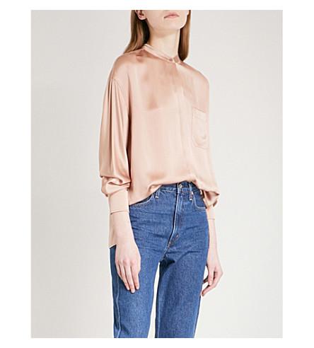 VINCE Asymmetric silk blouse (223qtz