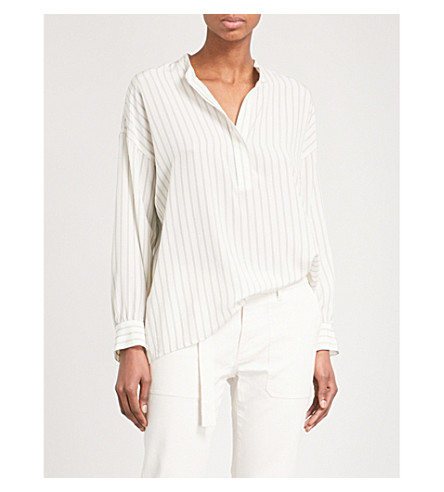 VINCE Striped silk shirt (128cre