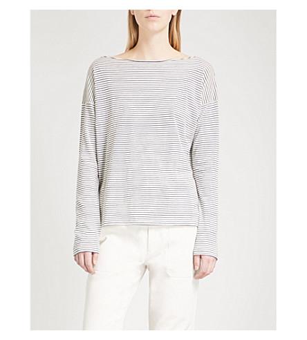 VINCE Striped cotton top (118vnb