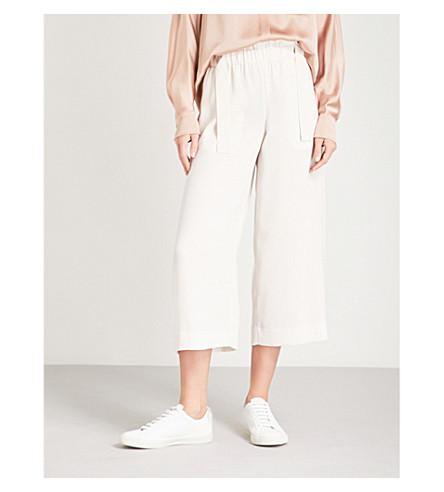 VINCE Wide-leg crepe trousers (Beige