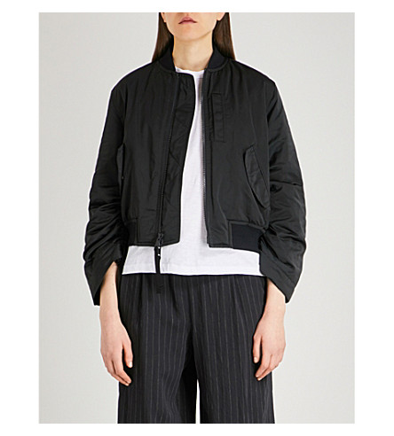 VINCE Parachute shell bomber jacket (Black