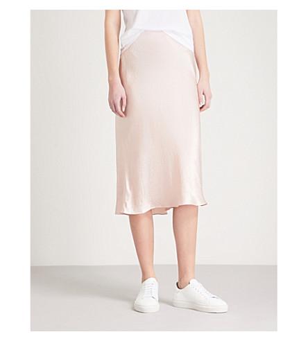 VINCE High-rise satin skirt (Pink