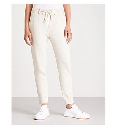 VINCE Tapered cotton-jersey jogging bottoms (H+burlap